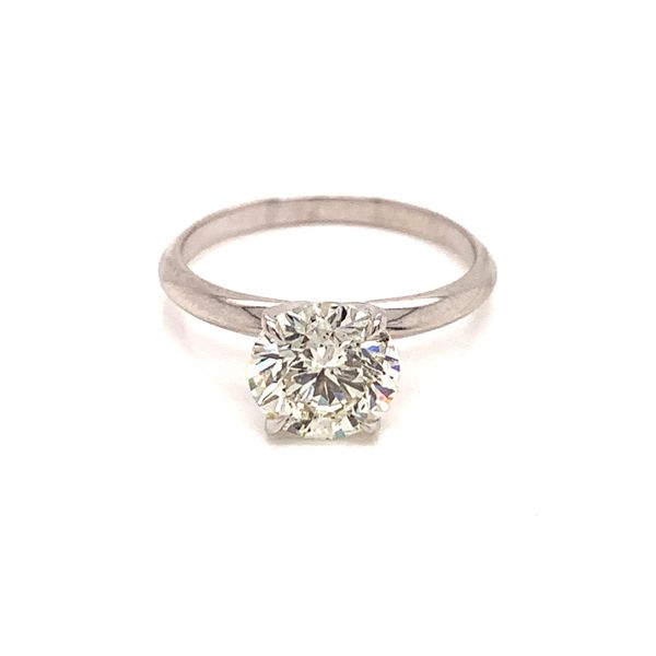 Solitaire Round Diamond Engagement Ring Image 2 Martin Busch Inc. New York, NY
