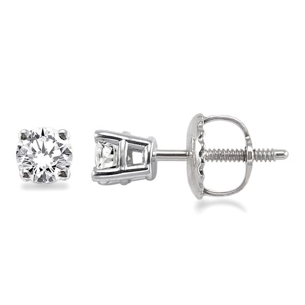 1/4 Ctw Round Diamond Stud Earrings Image 3 Martin Busch Inc. New York, NY