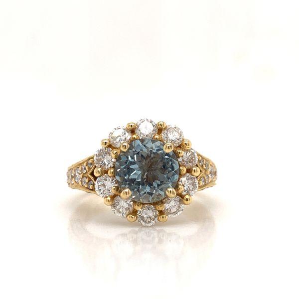 18KT Gold & Aquamarine Diamond Ring Martin Busch Inc. New York, NY