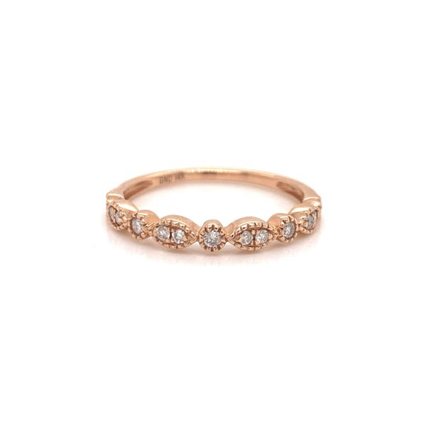 Rose Gold Diamond Stackable Band Martin Busch Inc. New York, NY