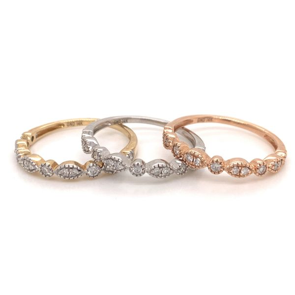 Rose Gold Diamond Stackable Band Image 2 Martin Busch Inc. New York, NY