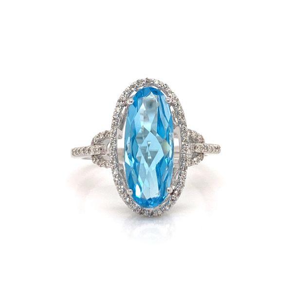 Blue Topaz and Diamond Ring Martin Busch Inc. New York, NY