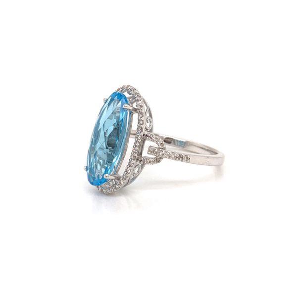 Blue Topaz and Diamond Ring Image 2 Martin Busch Inc. New York, NY