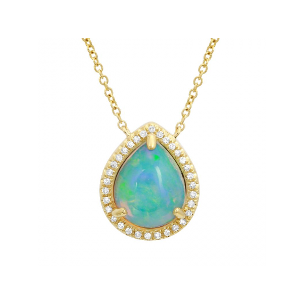 Opal and Diamond Halo Pendant Martin Busch Inc. New York, NY