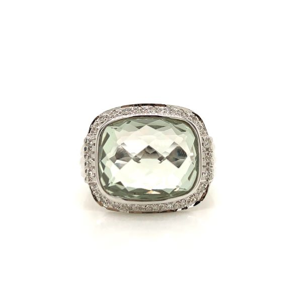 Green Amethyst and Diamond Ring  Martin Busch Inc. New York, NY