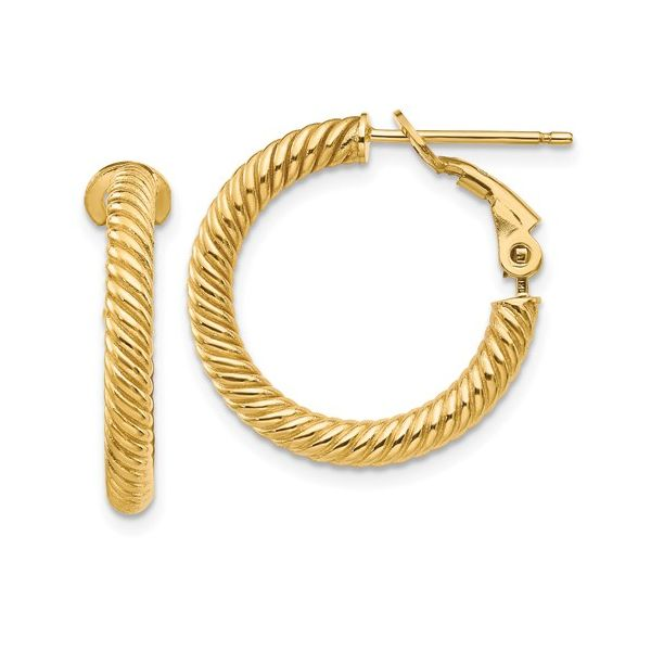 14 Karat Twisted Omega Hoop Earrings Martin Busch Inc. New York, NY