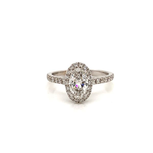 Oval Halo Engagement Ring  Martin Busch Inc. New York, NY