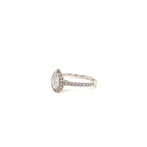Pear Halo Engagement Ring  Image 2 Martin Busch Inc. New York, NY