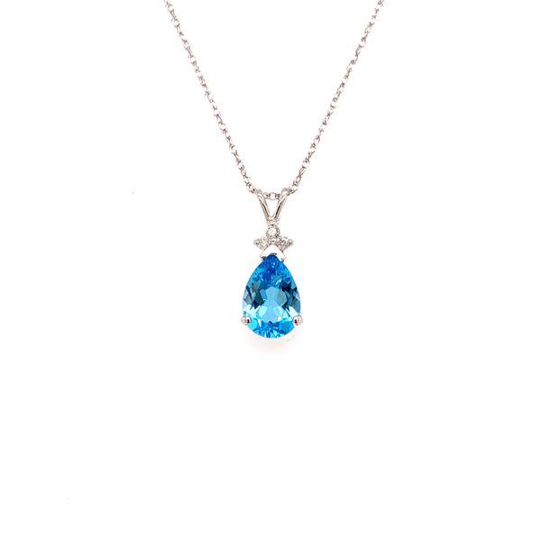 Pear Blue Topaz Pendant Martin Busch Inc. New York, NY