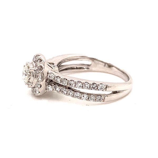 Halo Split Shank Engagement Ring Image 2 Martin Busch Inc. New York, NY