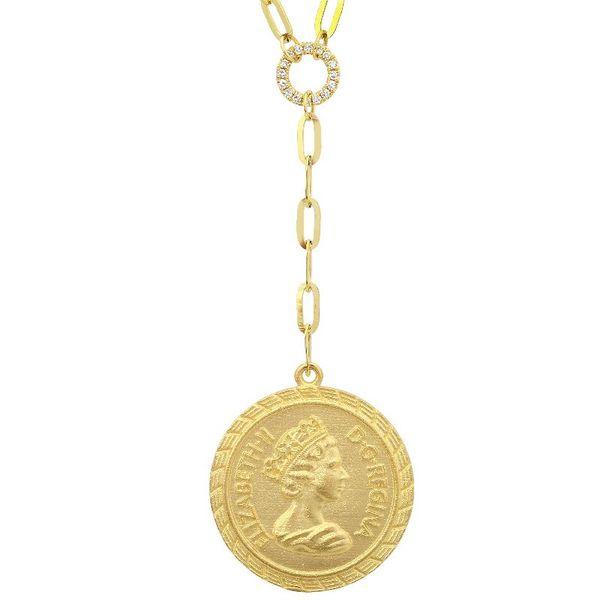 Gold Coin Y Necklace Martin Busch Inc. New York, NY