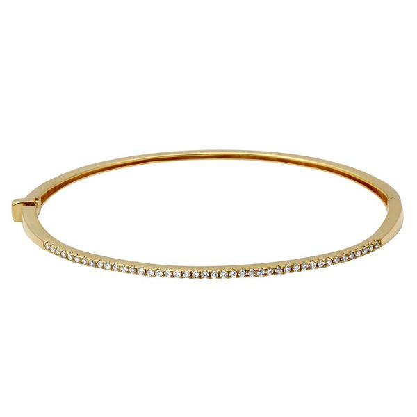 Gold and Diamond Bangle Bracelet Martin Busch Inc. New York, NY