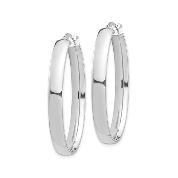 High Polished Oval Hoops Image 2 Martin Busch Inc. New York, NY