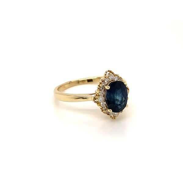 Vintage Style Sapphire and Diamond Ring Image 2 Martin Busch Inc. New York, NY