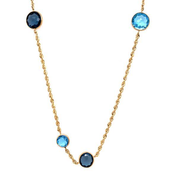 Asymmetrical Blue Topaz Necklace Martin Busch Inc. New York, NY