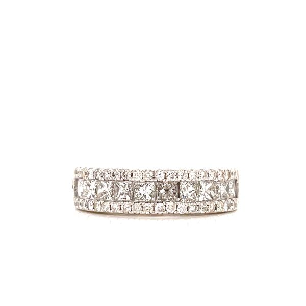 White Gold Princess Cut & Pave Line Cluster Martin Busch Inc. New York, NY