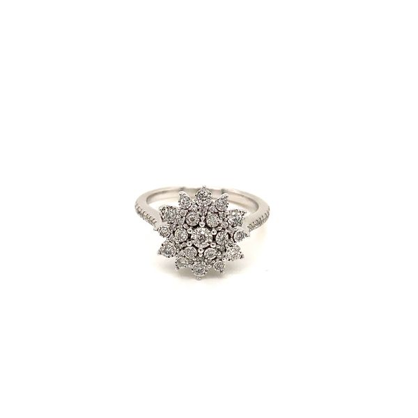 White Gold and Diamond Cluster Ring Martin Busch Inc. New York, NY