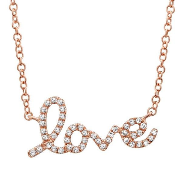 Rose Gold and Diamond Love Necklace Martin Busch Inc. New York, NY