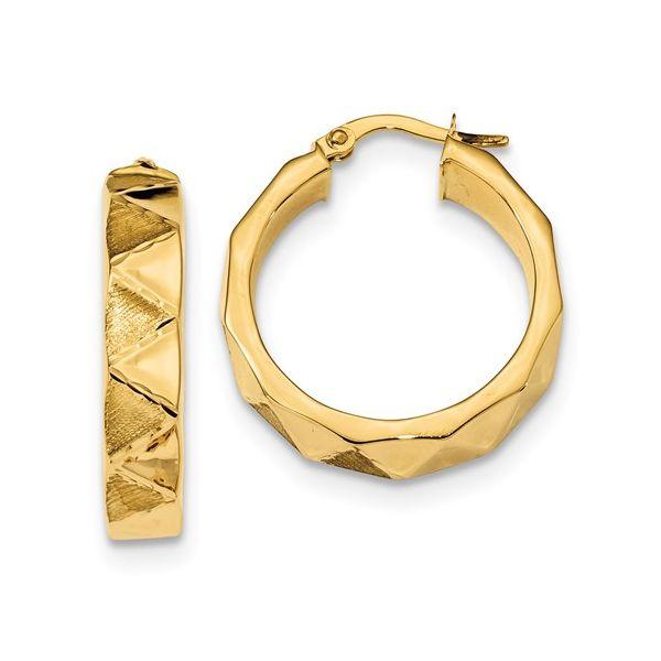 14 Karat Gold Medium Hoop Earrings Martin Busch Inc. New York, NY