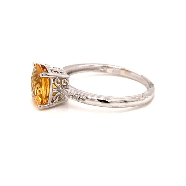 Sterling Silver Citrine and Diamond Ring Image 2 Martin Busch Inc. New York, NY