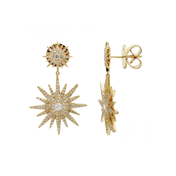 Starburst Diamond Drop Earrings Martin Busch Inc. New York, NY