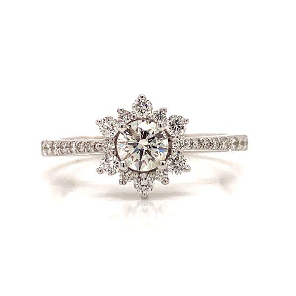 Halo Diamond Engagement Ring Martin Busch Inc. New York, NY