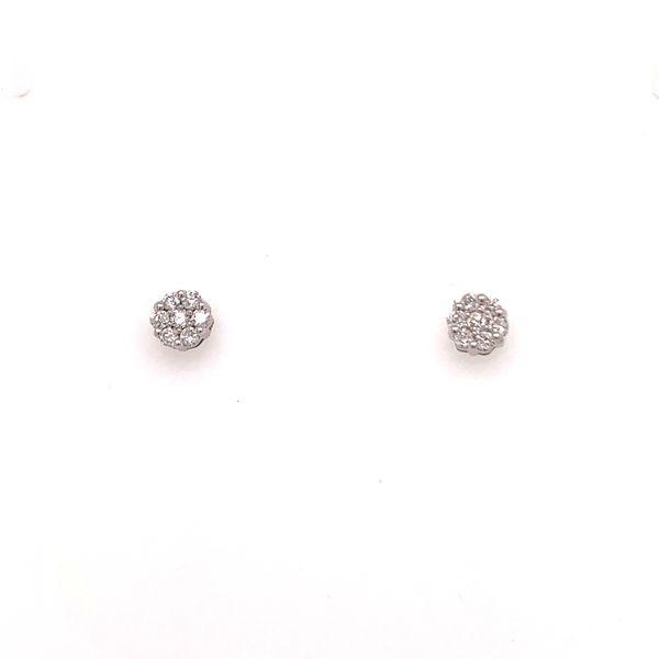Petite Diamond Cluster Studs Martin Busch Inc. New York, NY