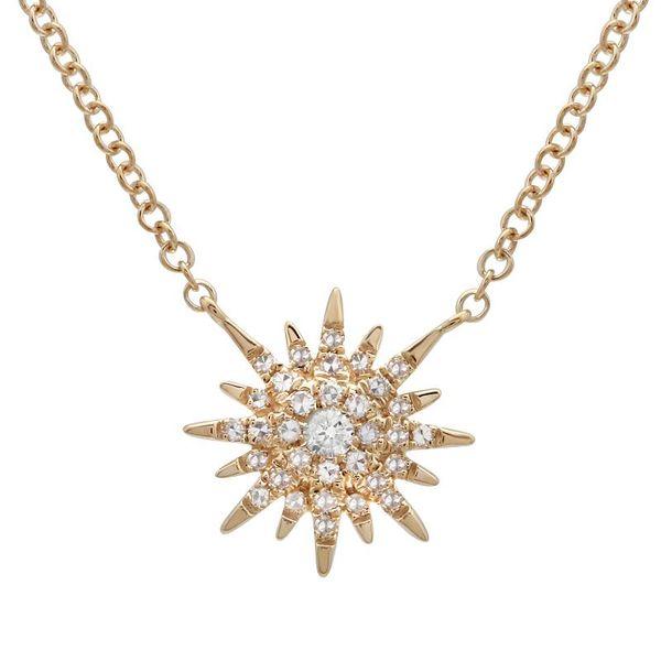 Petite Gold and Diamond Starburst Necklace Martin Busch Inc. New York, NY