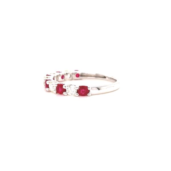 White Gold Ruby and Diamond Ring Image 2 Martin Busch Inc. New York, NY