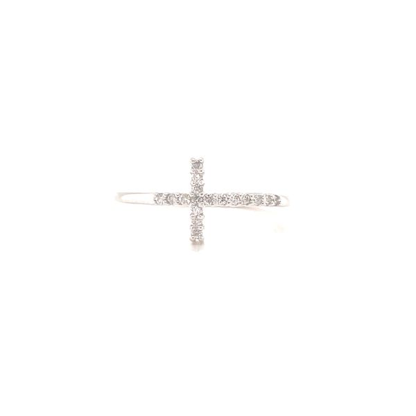 White 14 Karat Cross Ring  Martin Busch Inc. New York, NY