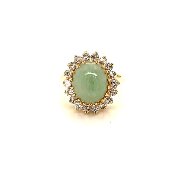 Jade and Diamond Ring Martin Busch Inc. New York, NY