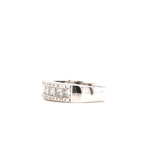 White Gold Princess Cut & Pave Line Cluster Image 2 Martin Busch Inc. New York, NY