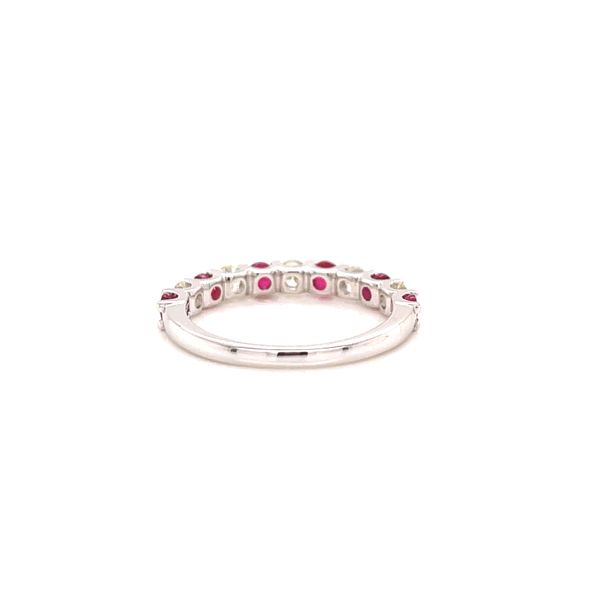 White Gold Ruby and Diamond Ring Image 3 Martin Busch Inc. New York, NY