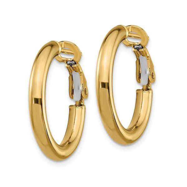 Omega Back Hoop Earrings Image 2 Martin Busch Inc. New York, NY