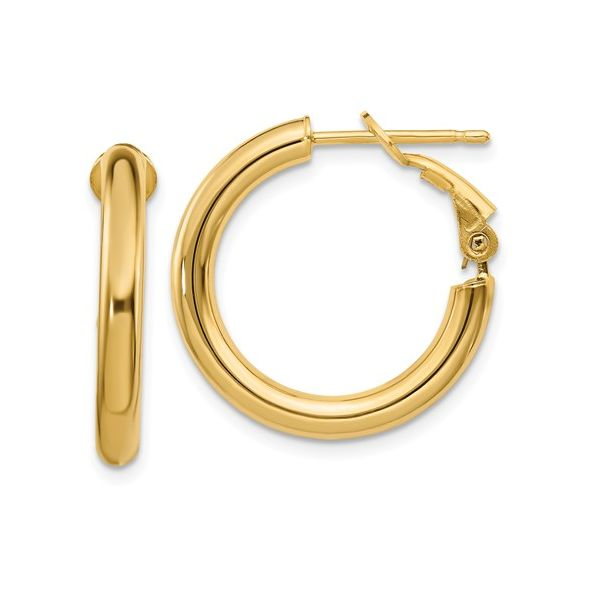 Omega Back Hoop Earrings Martin Busch Inc. New York, NY