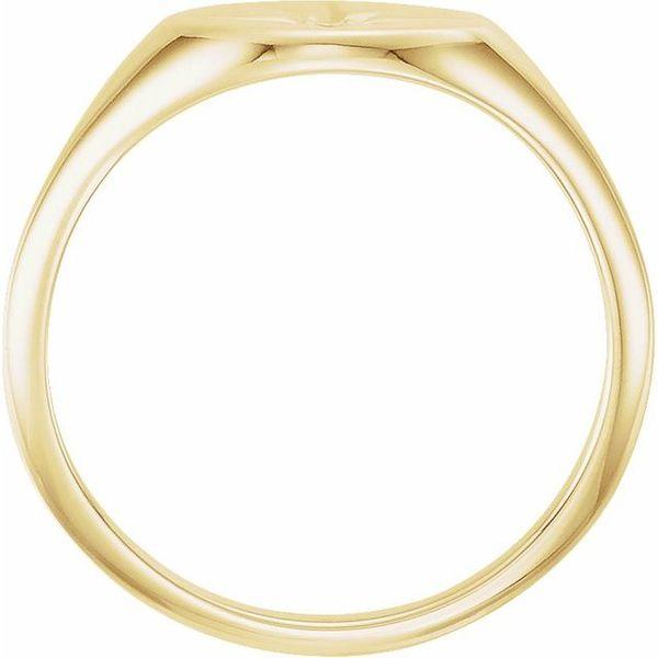 Diamond Starburst Signet Ring Image 2 Martin Busch Inc. New York, NY