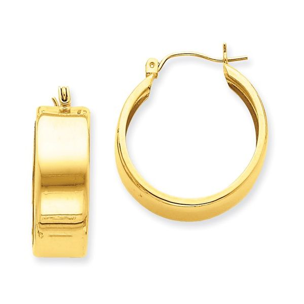 14 Karat Gold Medium Hoop Earrings Martin Busch Inc. New York, NY