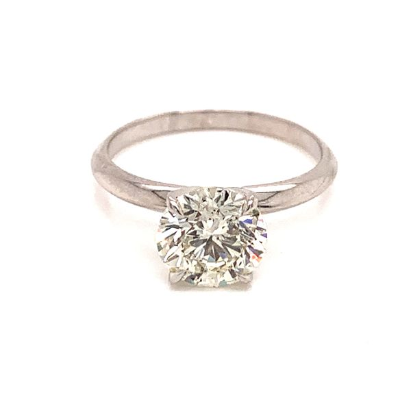 Solitaire Round Diamond Engagement Ring Martin Busch Inc. New York, NY