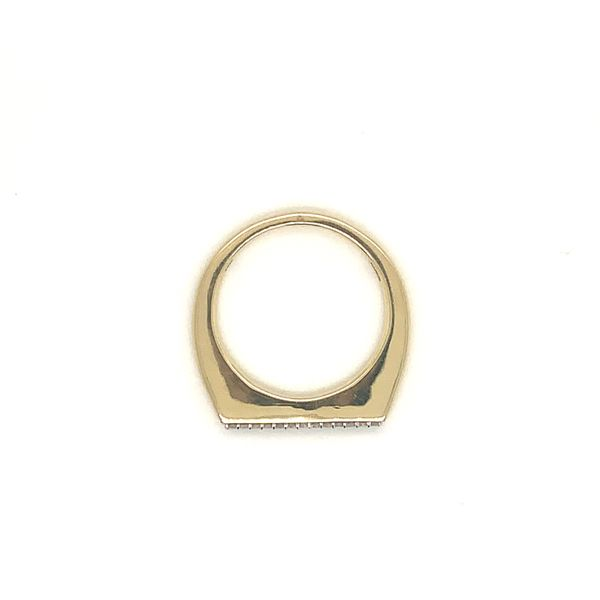 Gold and Diamond Stackable Band Image 2 Martin Busch Inc. New York, NY
