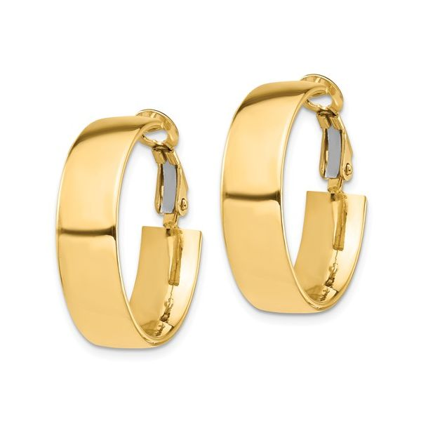 Wide Gold Hoop with Omega Back Image 2 Martin Busch Inc. New York, NY