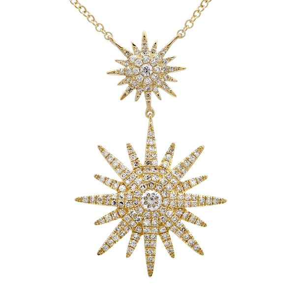 Gold Double Starburst Pendant Martin Busch Inc. New York, NY