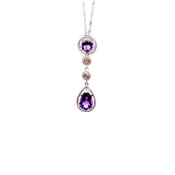 14K Amethyst and Diamond Drop Pendant Martin Busch Inc. New York, NY