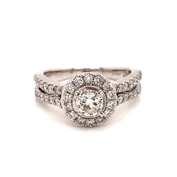 Halo Split Shank Engagement Ring Martin Busch Inc. New York, NY