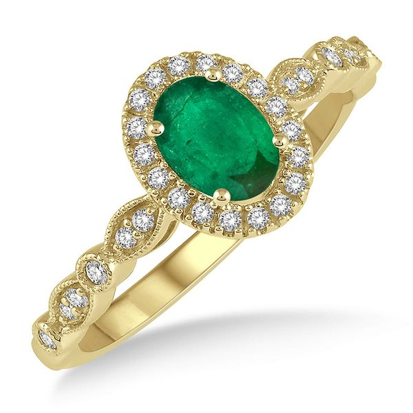 Emerald Halo Ring Martin Busch Inc. New York, NY