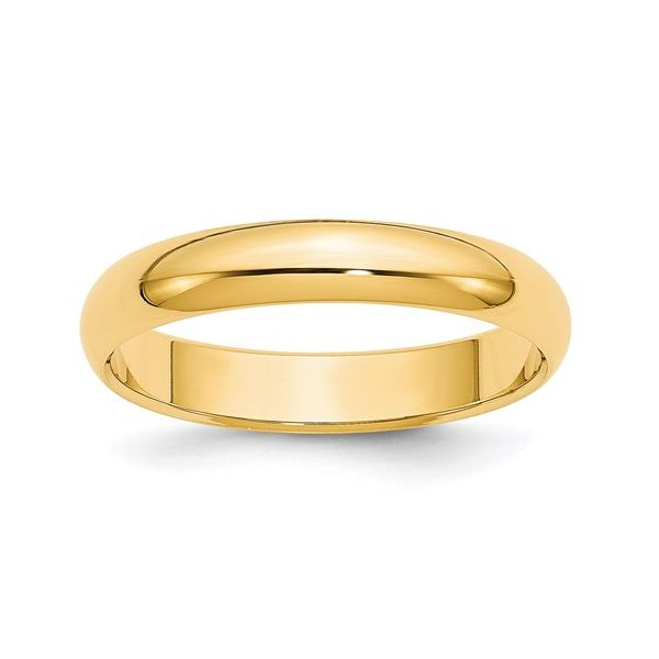 14K Yellow Gold Comfort Fit 4mm Band Martin Busch Inc. New York, NY