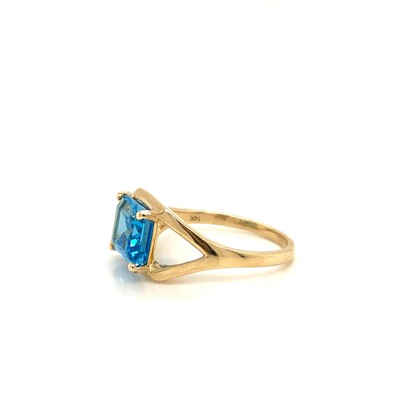 East West Blue Topaz Ring Image 2 Martin Busch Inc. New York, NY