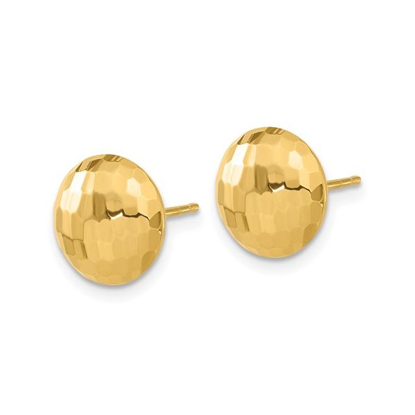 Polished Faceted Puffed Earrings Image 2 Martin Busch Inc. New York, NY