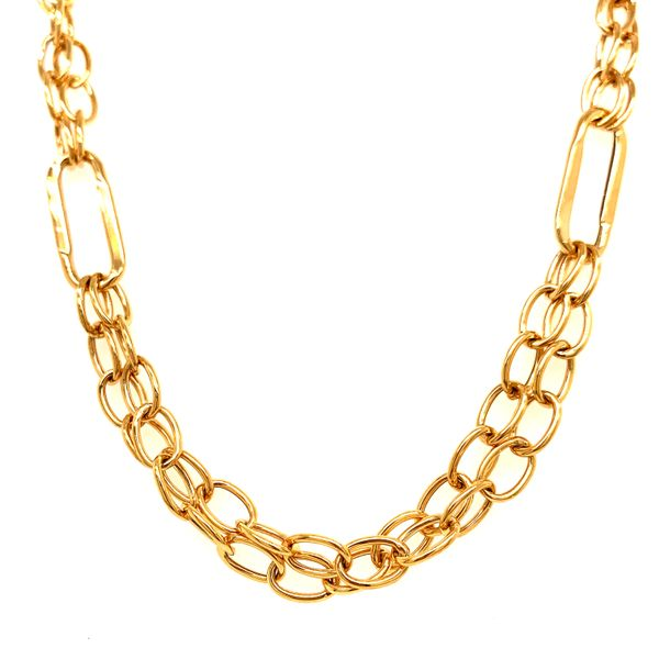 "Gold Double ""Paper Clip"" Chain Martin Busch Inc. New York, NY"