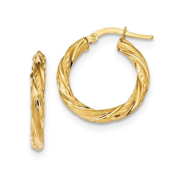 Gold Twisted Hoop Earrings Martin Busch Inc. New York, NY