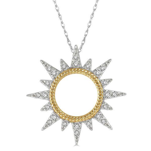 10K Two Tone Diamond Sun Pendant Martin Busch Inc. New York, NY